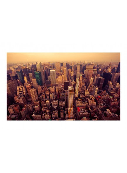 Fotobehang - Bird Eye View van Manhattan, New York