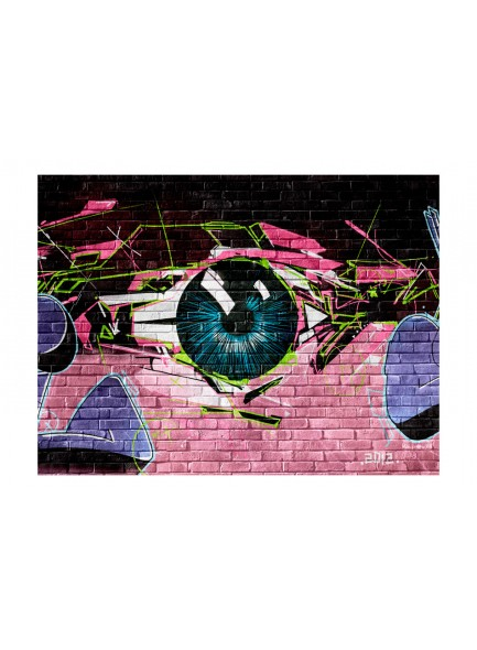 Fotobehang - eye (graffiti)