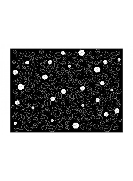 Fotobehang - Black-and-white solids