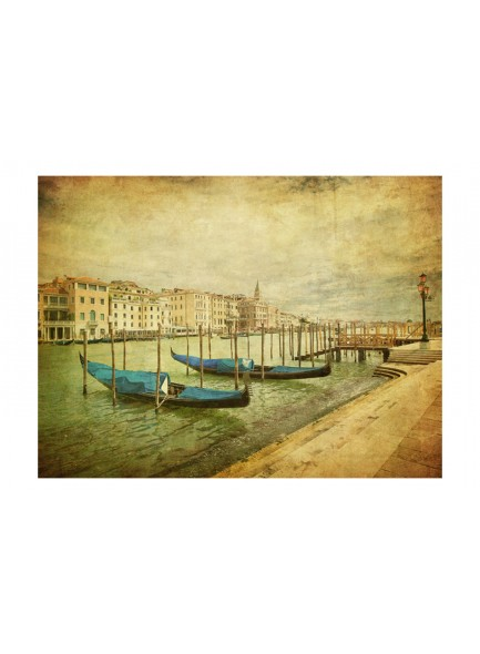 Fotobehang - Grand Canal, Venice (Vintage)