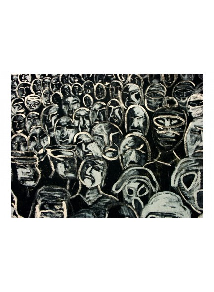 Fotobehang - crowd (group of people )