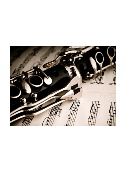 Fotobehang - Clarinet and music notes