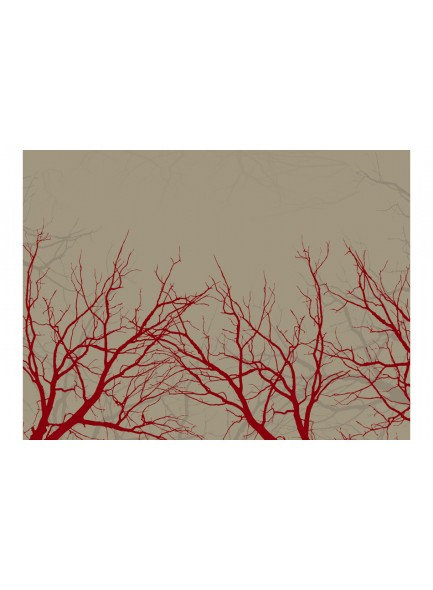 Fotobehang - Red-hot branches