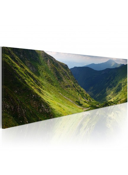 Foto schilderij - Canvas print - In the valley of the mountain