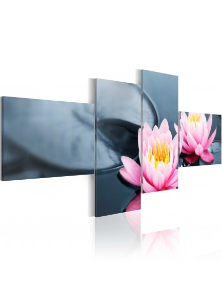 Foto schilderij - The tranquillity of the lilies