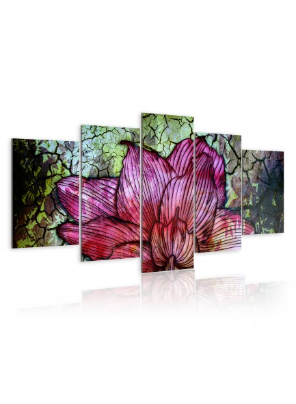 Foto schilderij - Flowery stained glass