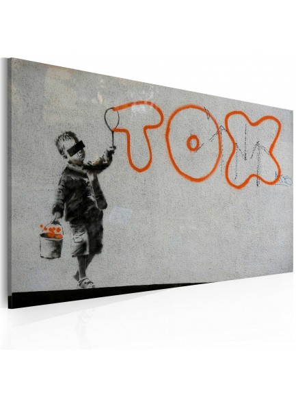 Foto schilderij - Wallpaper graffiti (Banksy)
