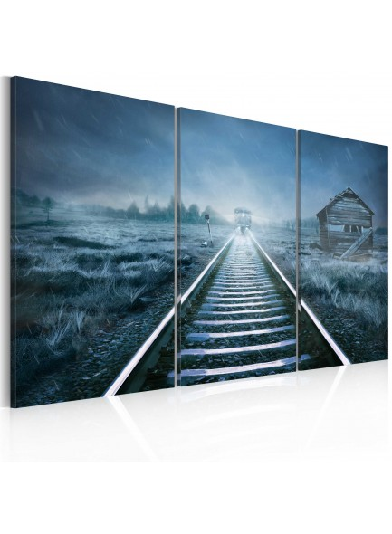 Foto schilderij - A journey in the fog
