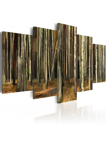 Foto schilderij - The mystery of Sherwood Forest - 5 pieces