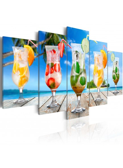 Foto schilderij - Summer drinks