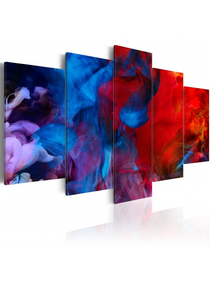 Foto schilderij - Dance of Colourful Flames