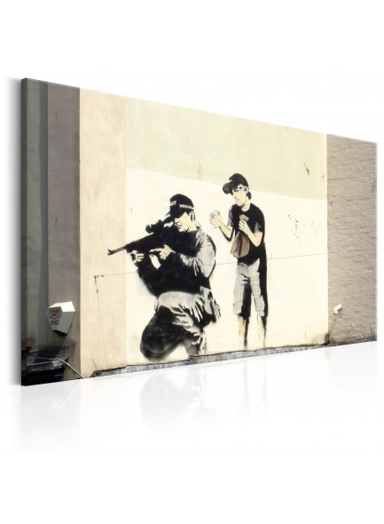 Foto schilderij - Sniper and Child by Banksy