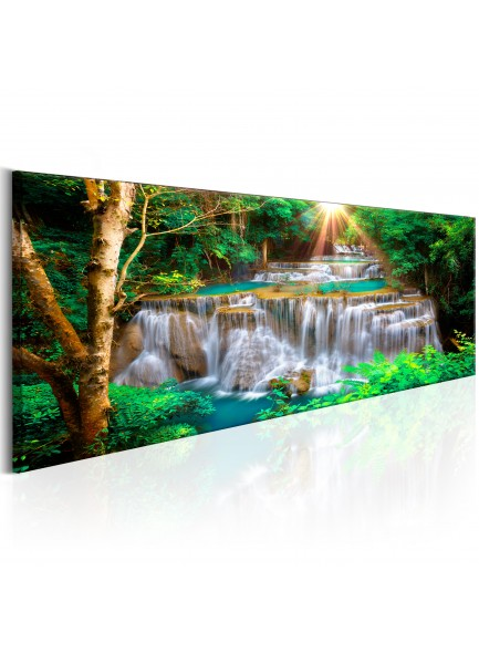 Foto schilderij - Tropical Waterfall