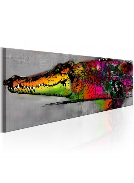 Foto schilderij - Colourful Alligator