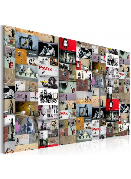 Foto schilderij - Art of Collage: Banksy III