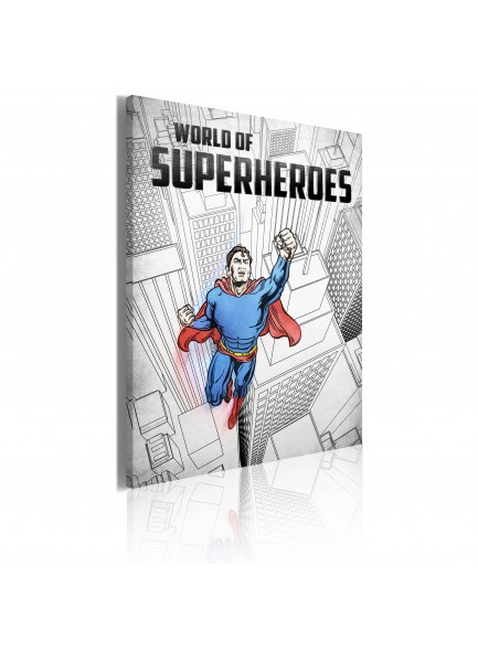 Foto schilderij - World of superheroes