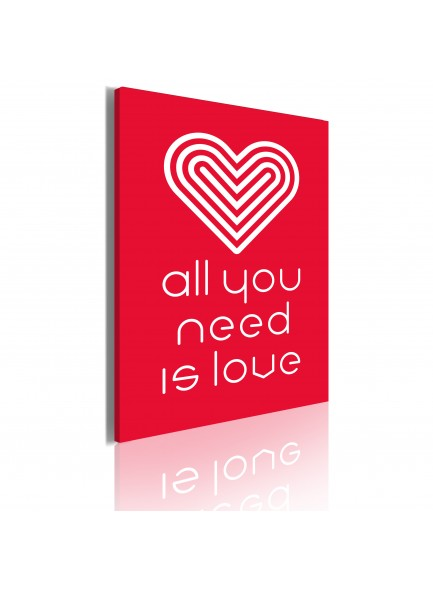 Foto schilderij - All you need is love