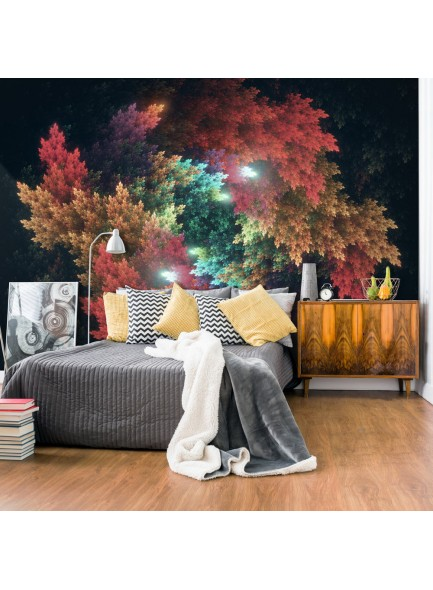 Fotobehang - Colourful Forest