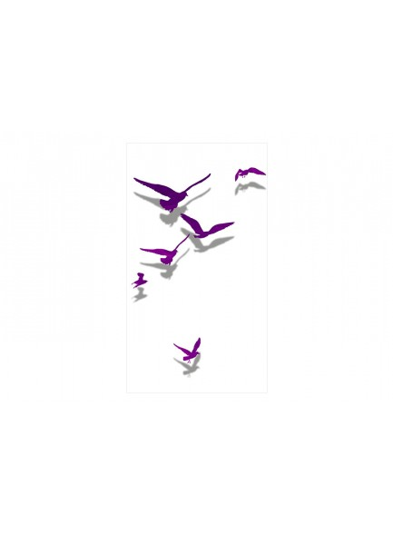 Fotobehang - Purple Birds